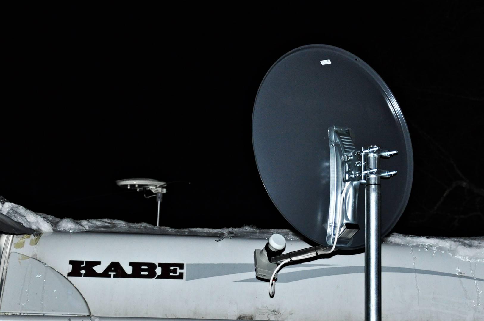 Nya Montering på husvagn. - Gestrike antennservice XT-06